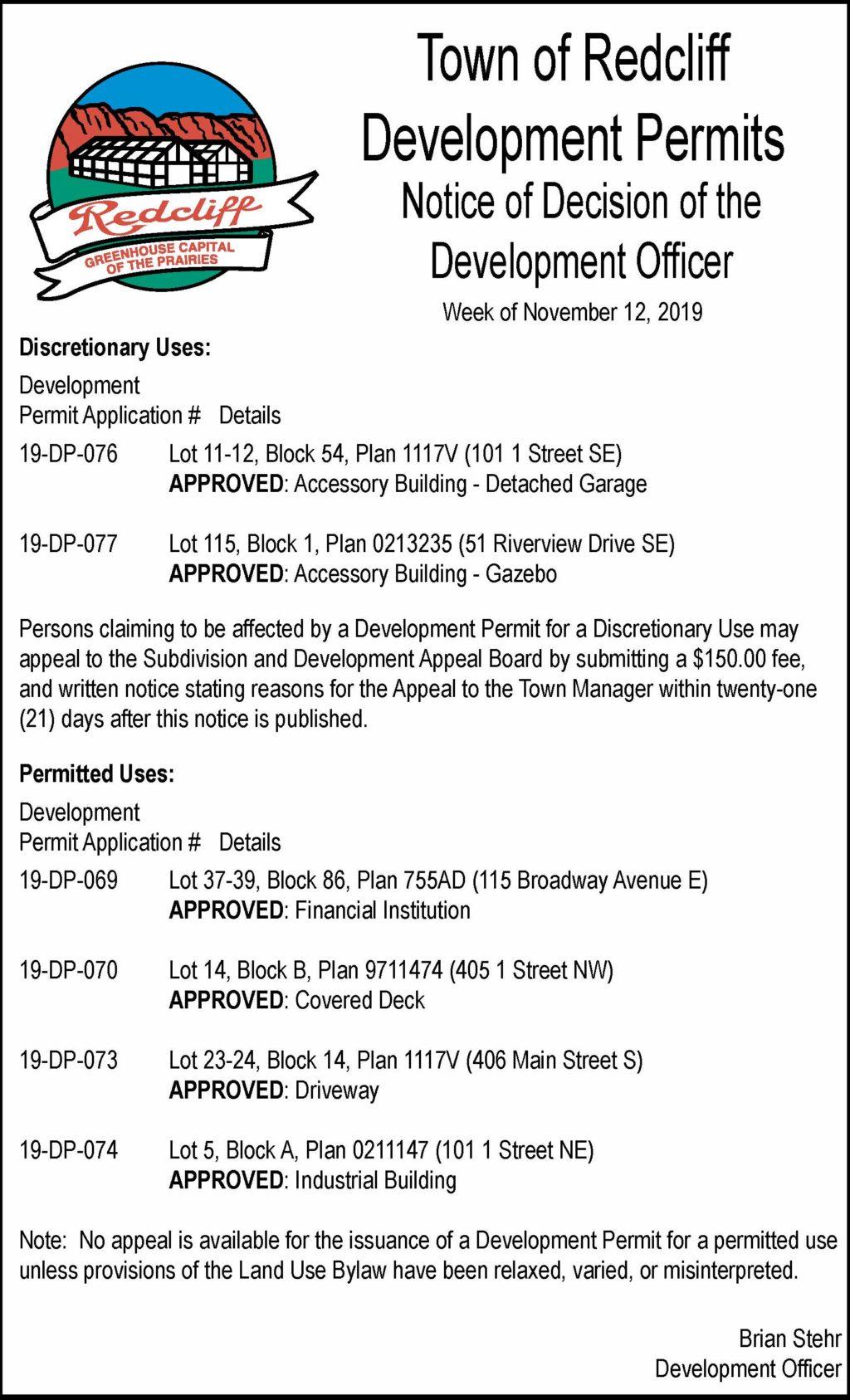 Wk of Nov. 12, 2019